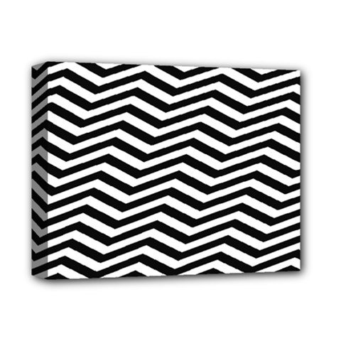 Zigzag Chevron Pattern Deluxe Canvas 14  X 11  (stretched) by Jojostore