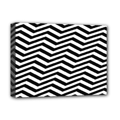 Zigzag Chevron Pattern Deluxe Canvas 16  X 12  (stretched)