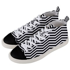 Zigzag Chevron Pattern Men s Mid-top Canvas Sneakers by Jojostore