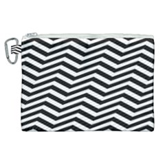 Zigzag Chevron Pattern Canvas Cosmetic Bag (xl)