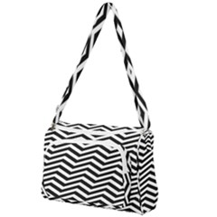 Zigzag Chevron Pattern Front Pocket Crossbody Bag