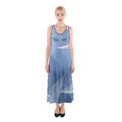 Wallpaper Abstraction Sleeveless Maxi Dress