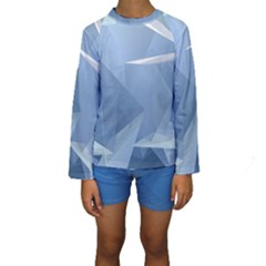 Wallpaper Abstraction Kids  Long Sleeve Swimwear