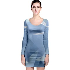 Wallpaper Abstraction Long Sleeve Bodycon Dress