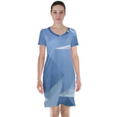 Wallpaper Abstraction Short Sleeve Nightdress