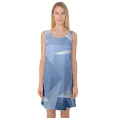 Wallpaper Abstraction Sleeveless Satin Nightdress