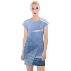 Wallpaper Abstraction Cap Sleeve Bodycon Dress