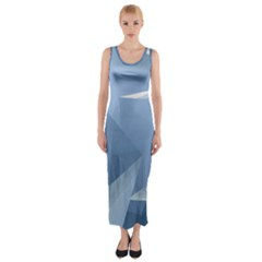 Wallpaper Abstraction Fitted Maxi Dress