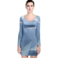 Wallpaper Abstraction Long Sleeve Velvet Bodycon Dress