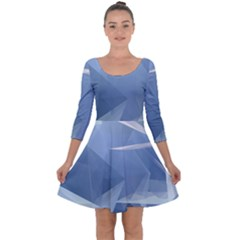 Wallpaper Abstraction Quarter Sleeve Skater Dress