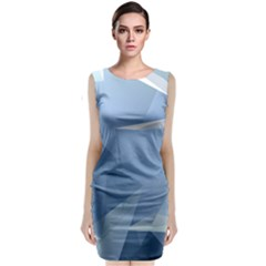 Wallpaper Abstraction Classic Sleeveless Midi Dress
