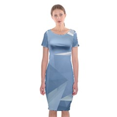 Wallpaper Abstraction Classic Short Sleeve Midi Dress