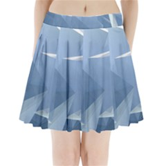 Wallpaper Abstraction Pleated Mini Skirt by Alisyart