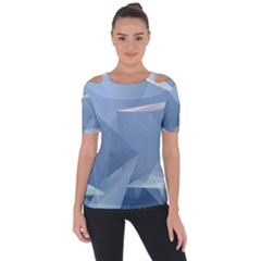 Wallpaper Abstraction Shoulder Cut Out Short Sleeve Top