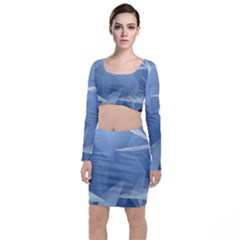 Wallpaper Abstraction Top And Skirt Sets