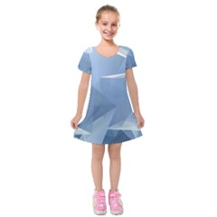 Wallpaper Abstraction Kids  Short Sleeve Velvet Dress