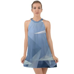 Wallpaper Abstraction Halter Tie Back Chiffon Dress by Alisyart