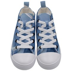 Wallpaper Abstraction Kids  Mid Top Canvas Sneakers