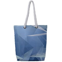 Wallpaper Abstraction Full Print Rope Handle Tote (small)