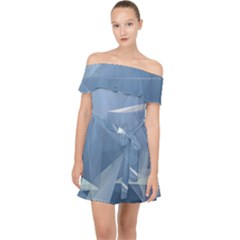 Wallpaper Abstraction Off Shoulder Chiffon Dress