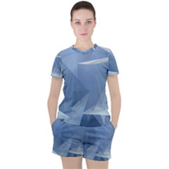 Wallpaper Abstraction Women s Tee And Shorts Set