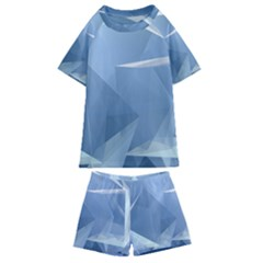 Wallpaper Abstraction Kids  Swim Tee And Shorts Set