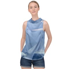 Wallpaper Abstraction High Neck Satin Top by Alisyart