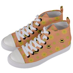 Honey Bee Mine Women s Mid Top Canvas Sneakers by WensdaiAddamns