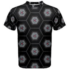 Geometric Pattern   Black Men s Cotton Tee