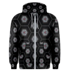 Geometric Pattern   Black Men s Zipper Hoodie