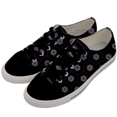 Geometric Pattern   Black Men s Low Top Canvas Sneakers by WensdaiAddamns
