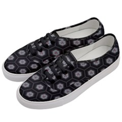Geometric Pattern   Black Women s Classic Low Top Sneakers by WensdaiAddamns