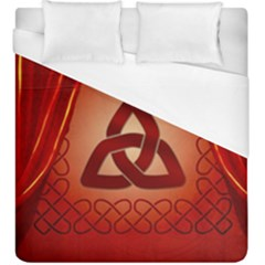 The Celtic Knot In Red Colors Duvet Cover (king Size)