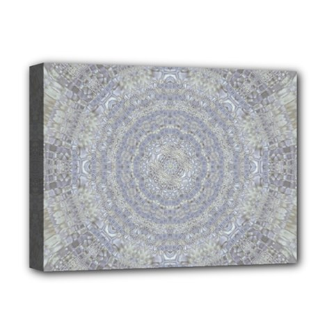 Lace Flower Planet And Decorative Star Deluxe Canvas 16  X 12  (stretched)  by pepitasart
