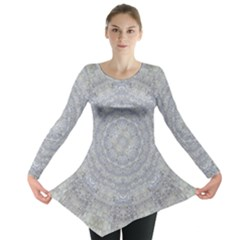 Lace Flower Planet And Decorative Star Long Sleeve Tunic