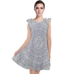 Lace Flower Planet And Decorative Star Tie Up Tunic Dress