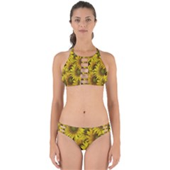 Surreal Sunflowers Perfectly Cut Out Bikini Set by retrotoomoderndesigns