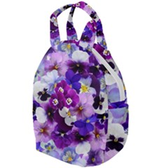 Pretty Purple Pansies Travel Backpacks