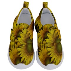 Surreal Sunflowers Kids  Velcro No Lace Shoes