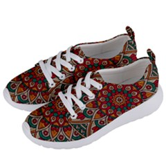 Mandala - Red & Teal Women s Lightweight Sports Shoes by WensdaiAmbrose