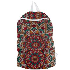 Mandala   Red & Teal Foldable Lightweight Backpack by WensdaiAddamns
