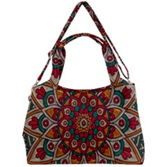 Mandala   Red & Teal Double Compartment Shoulder Bag by WensdaiAddamns