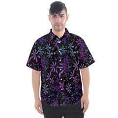 Retro Lilac Pattern Men s Short Sleeve Shirt