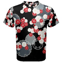 Plumflower Men s Cotton Tee
