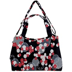Plumflower Double Compartment Shoulder Bag by WensdaiAddamns