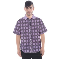 Grid Of Elegance  Men s Short Sleeve Shirt by TimelessFashion
