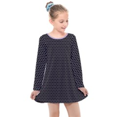 Hexagon Effect  Kids  Long Sleeve Dress by TimelessFashion