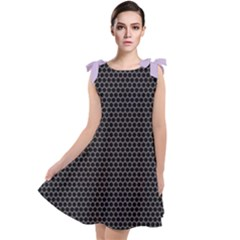 Hexagon Effect  Tie Up Tunic Dress by TimelessFashion