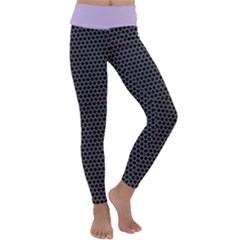 Hexagon Effect  Kids  Lightweight Velour Classic Yoga Leggings by TimelessFashion
