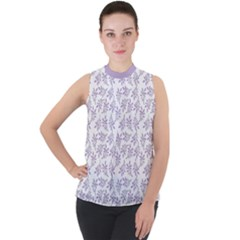 Just Leaves  Mock Neck Chiffon Sleeveless Top by TimelessFashion